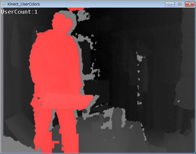[Kinect SDK][C#][XNA]人を色分けしてシルエット表示する